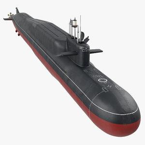 3D russian nuclear strategic submarine