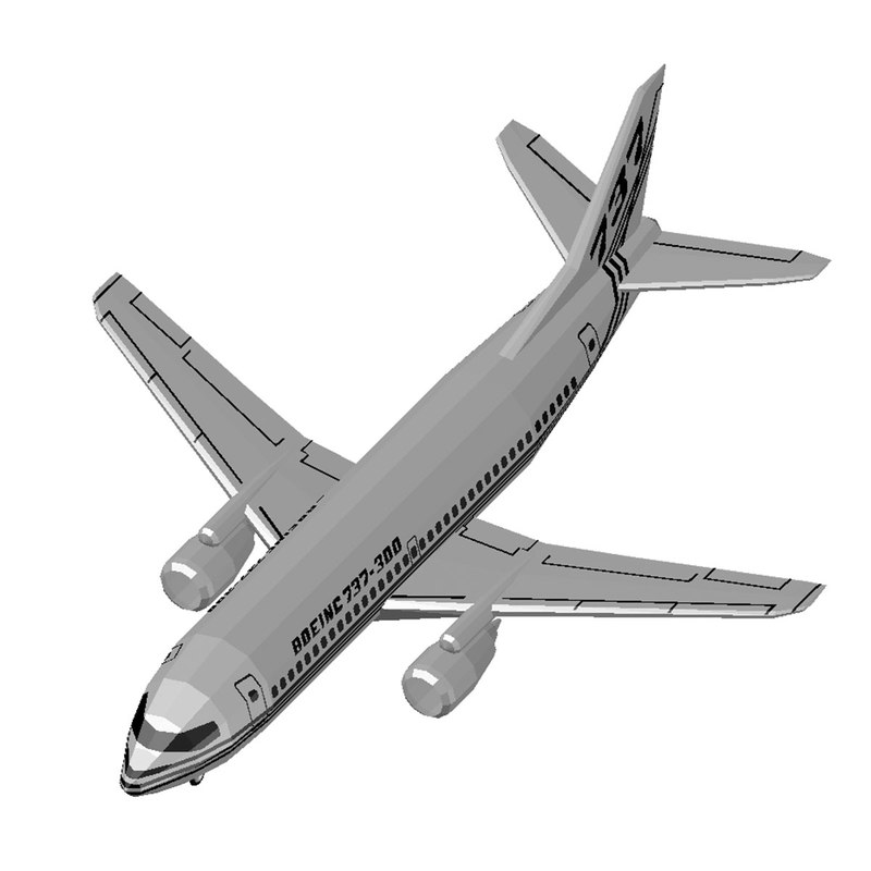 autocad boeing 737 3D model