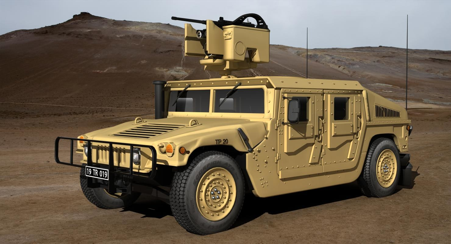 3D m 1114 hmmwv model