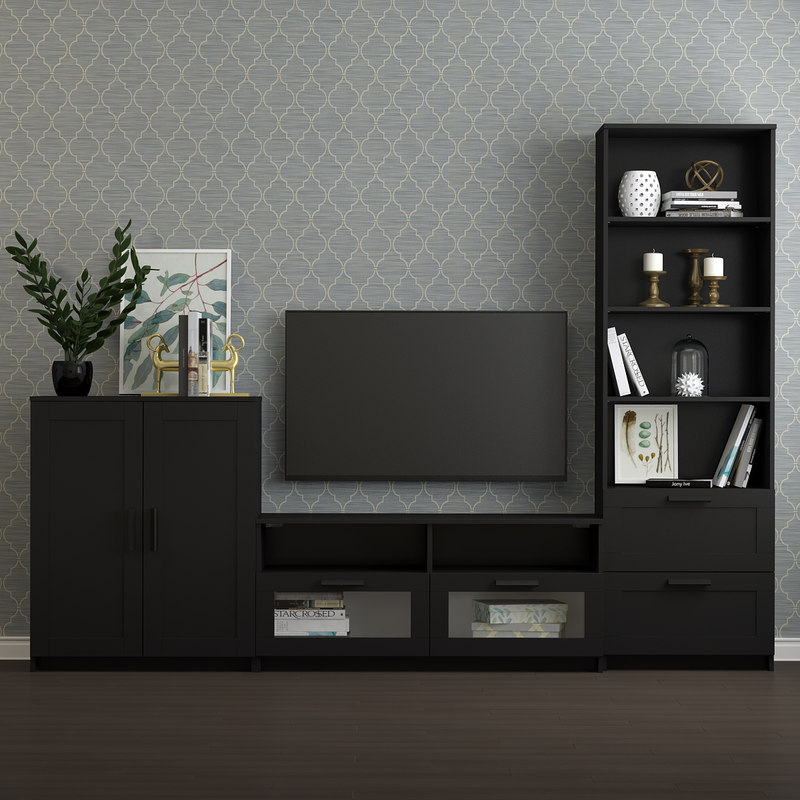 3D tv storage combination brimnes