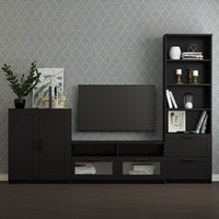 3D tv storage combination brimnes