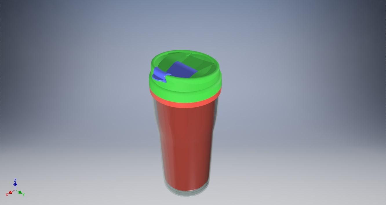 bottle tupperware 3D