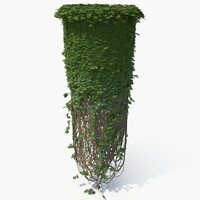 realistic ivy column model