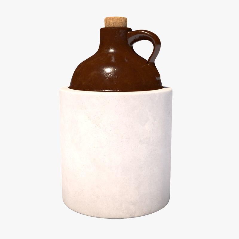 3D whiskey jug
