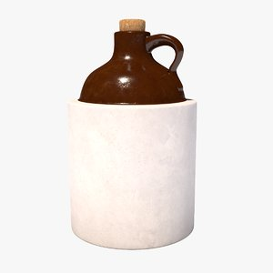 3D whiskey jug