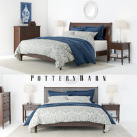set pottery barn crosby 3D model