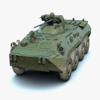 3D lod low-poly btr-80a