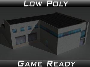3D model factory building 16