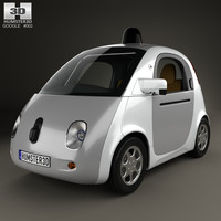 google self-driving car 3D model