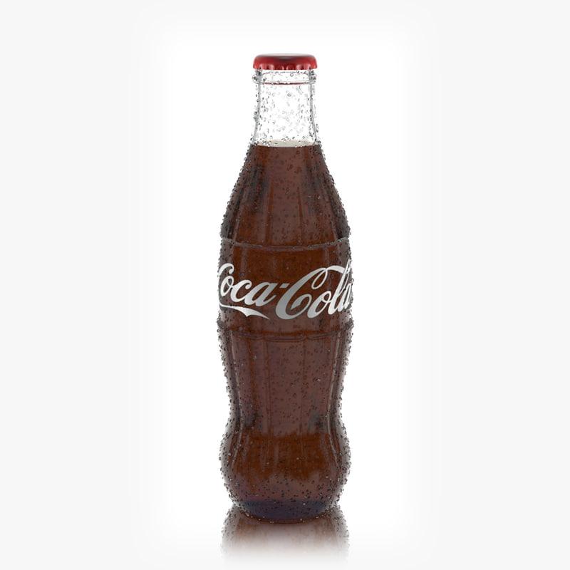3D coke glass bottle