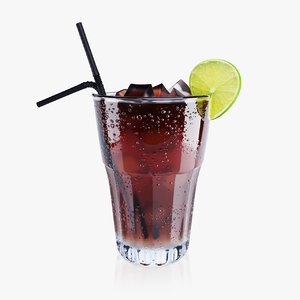 refreshing cola cocktail 3D model