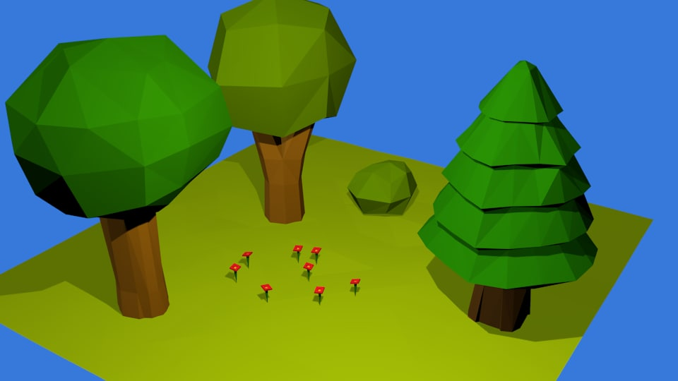 Low Poly Nature Set