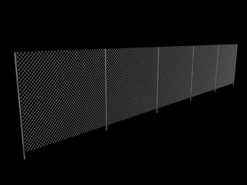 3D fence rigged model