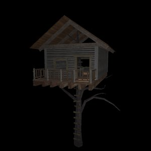 treehouse tree house 3D