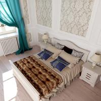 bedroom design 3D model