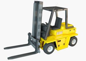 forklift lift load 3D model