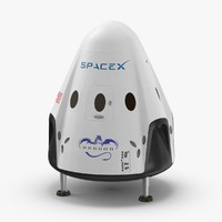 3D space-x-dragon-capsule model
