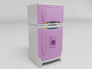 3D cartoon refrigerator