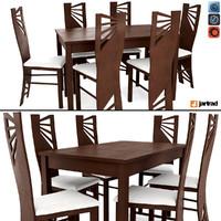 jartrad dining table set 3D model