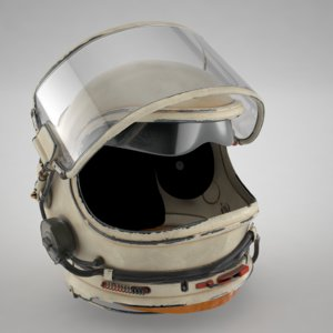 russian space helmet 3D model