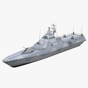visby class corvette 3D