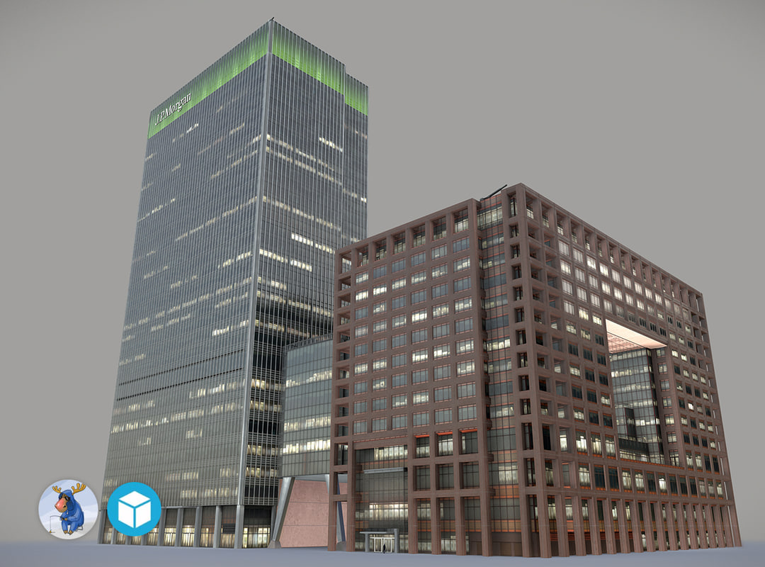 3D low-poly london 25bank street model
