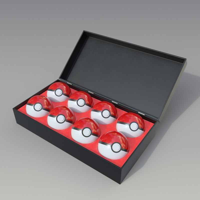 3D model pokeball box