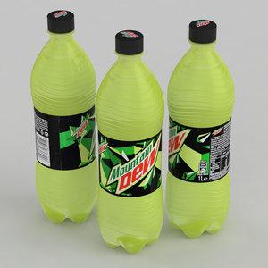 beverage mountain dew 3D