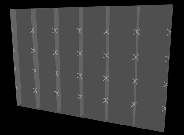 spider urtain wall 3D model