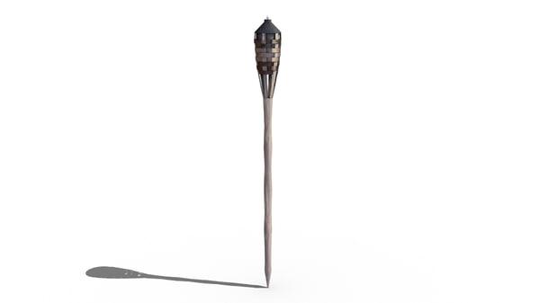 bamboo torch 3D