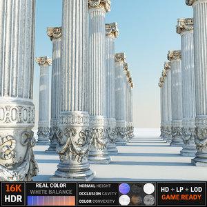 3D model ancient pillar ready