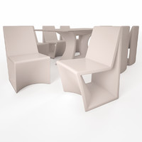 3D vondom rest dining set