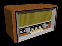 retro radio 3D