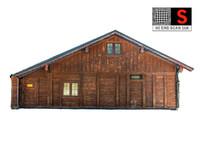 3D wooden architecture 16k model