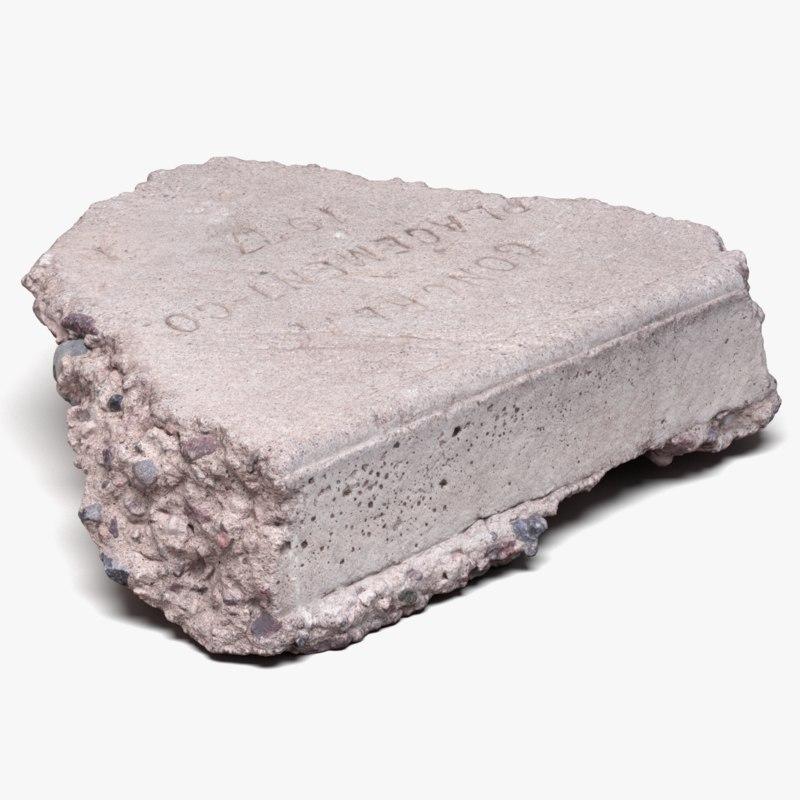 Concrete Chunk 02 (3D Scan)