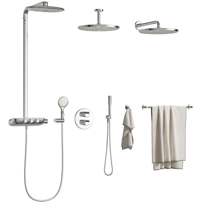 regendusche set grohe latest grohe dusche on auch. Black Bedroom Furniture Sets. Home Design Ideas