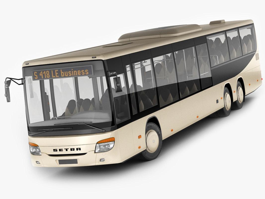 setra s 418 3D model