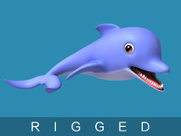 cartoon dolphin toon 3D