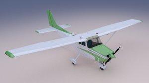 3D c172 aircraft instrument