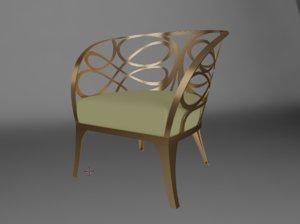 3D model cantori noe armchair