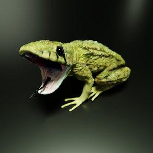 snakes frogs 3D model