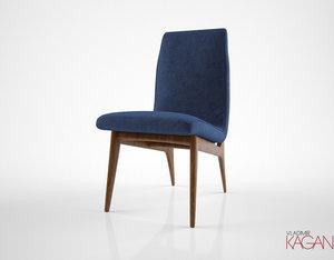 3D vladimir kagan jessica dining chair