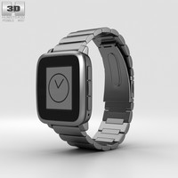 pebble time steel 3D model