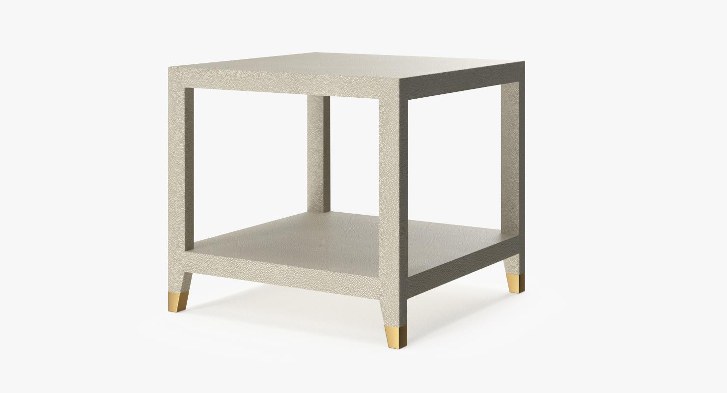 Restoration Hardware Graydon Shagreen Square Side Table
