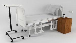 general patient bed 3D