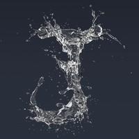 Letter J Splash