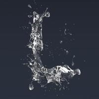letter splash 3D model