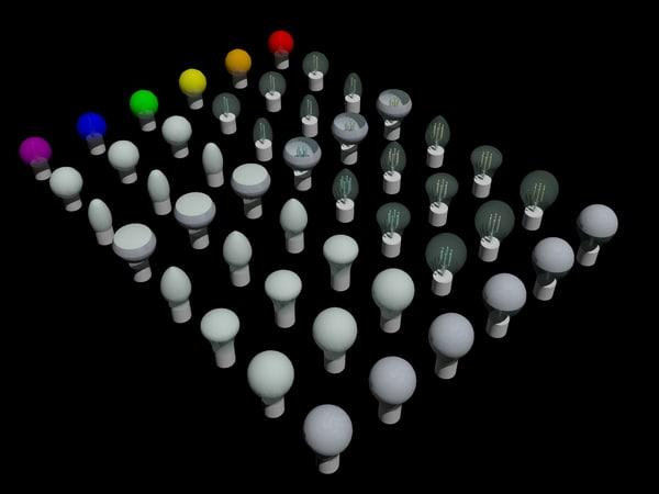 led filament bulbs 3D model