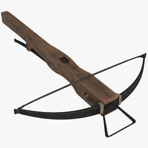3D medieval crossbow weapons