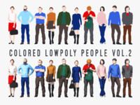 Colored Lowpoly People Vol.2
